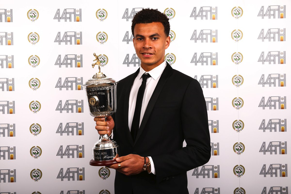 Professional Footballers Association On Twitter Twice As Nice The Men S Pfa Young Player Of The Year Award For 2017 Goes To Dele Alli For The Second Consecutive Year Pfaawards Https T Co G6yd7gdd9h