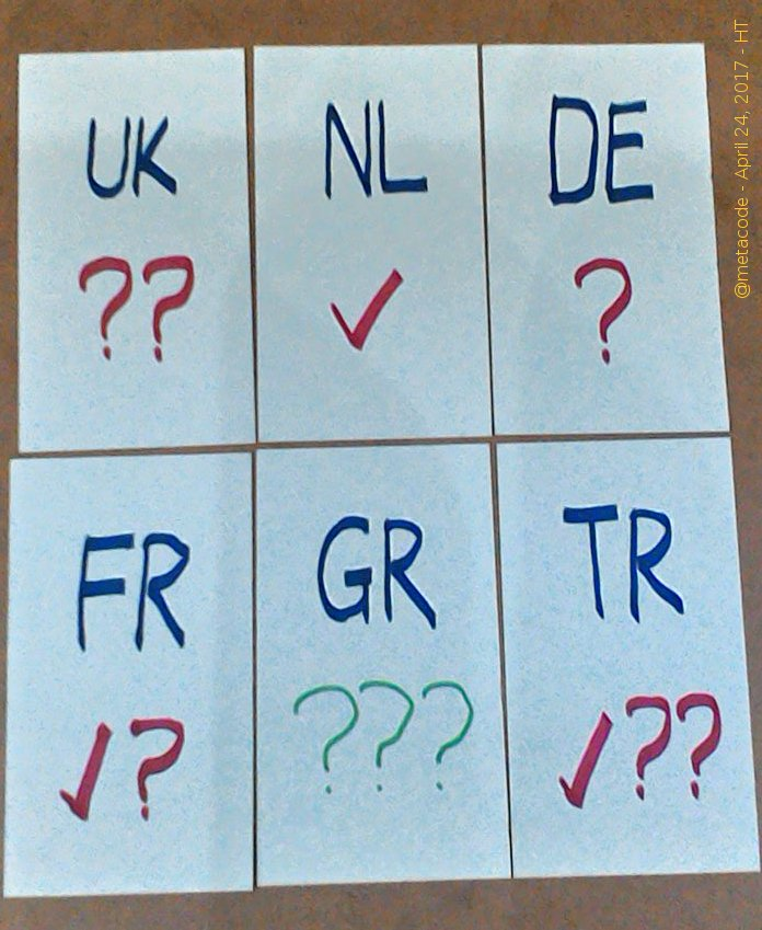 My answer to the question: what can you do with 6 cards and 3 markers? #Presidentielle <br>http://pic.twitter.com/ziswxqANOg