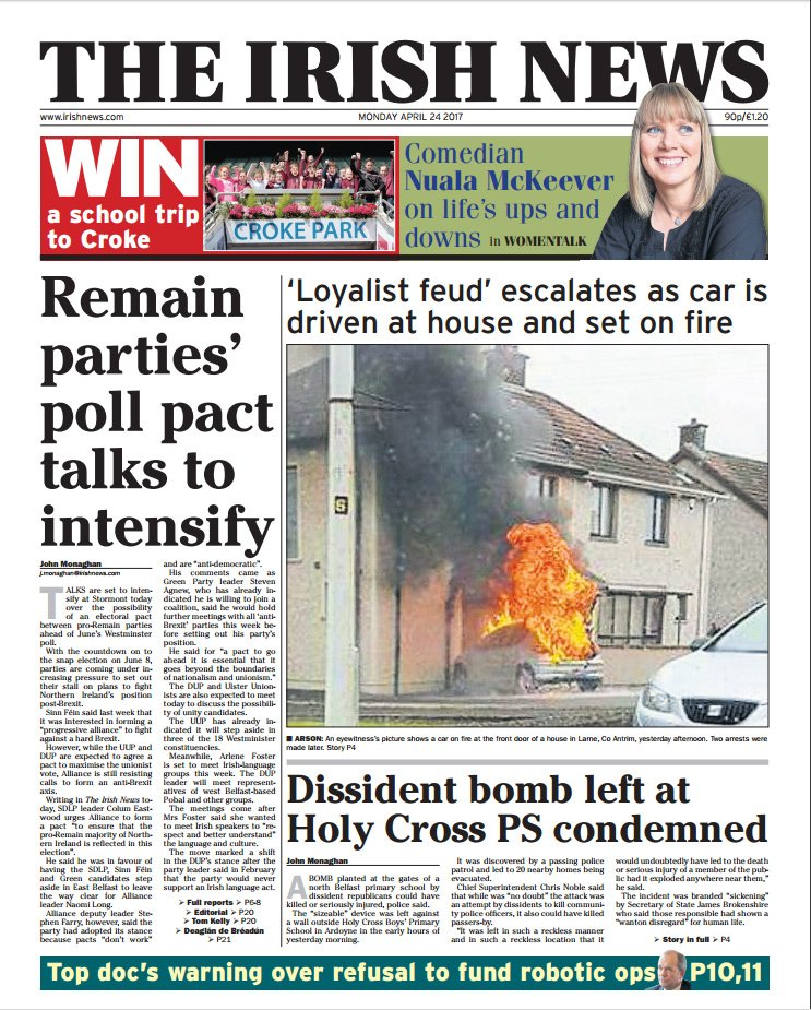 Today's #frontpage: Remain parties' poll pact talks to intensify https...