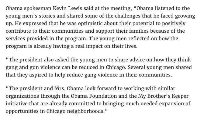 President Obama met with at-risk young men in Chicago today. https://t...