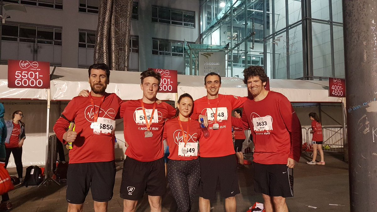 A delighted team DNM after the #VMnightrun #10km #wedidit #happychappys<br>http://pic.twitter.com/opmeXC1mEd