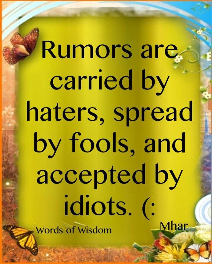 Rumors are... #ThinkBIGSundayWithMarsha #talk #speak #mindfulness #respect #inspire #grow<br>http://pic.twitter.com/AJ641AGvgO