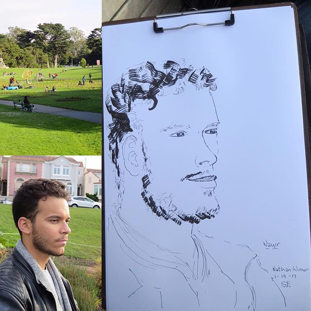 Studying at the outdoors #portrait #sketch #sketching #instaart #sanfrancisco #californiaart #lineart #facedrawing #california #park #linear<br>http://pic.twitter.com/qTWlbVN9KT