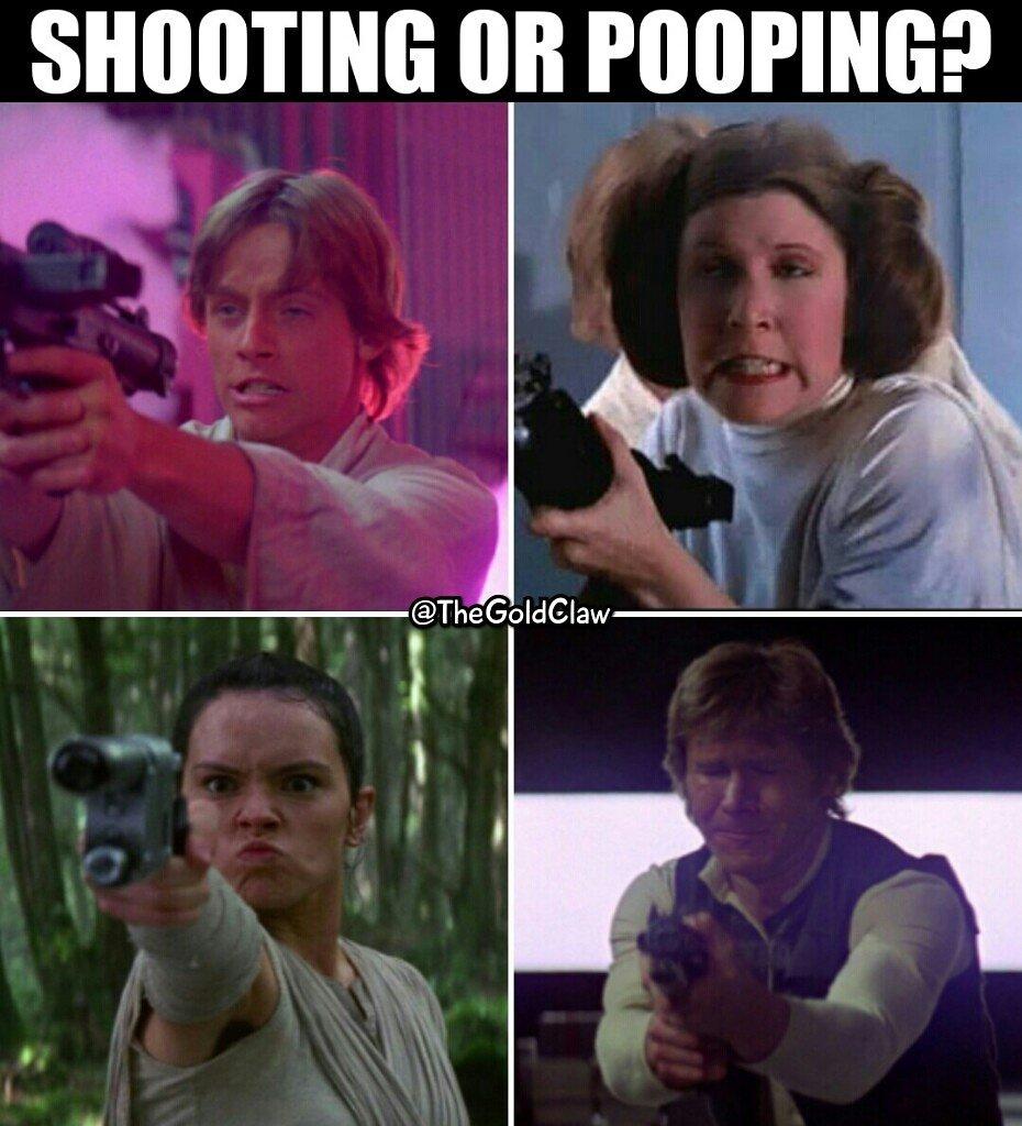 Which is which? (#StarWars #LukeSkywalker #MarkHamill #PrincessLeia #CarrieFisher #Rey #DaisyRidley #HanSolo #HarrisonFord #GameFace)<br>http://pic.twitter.com/qYLh1xMqRb