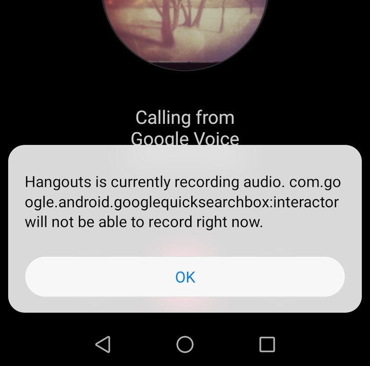 If Google can&#39;t listen for &quot;OK Google&quot; it throws an error message. Bad, @Google, bad.  #Android #Fail #googlevoice <br>http://pic.twitter.com/L6U2RsmTXo
