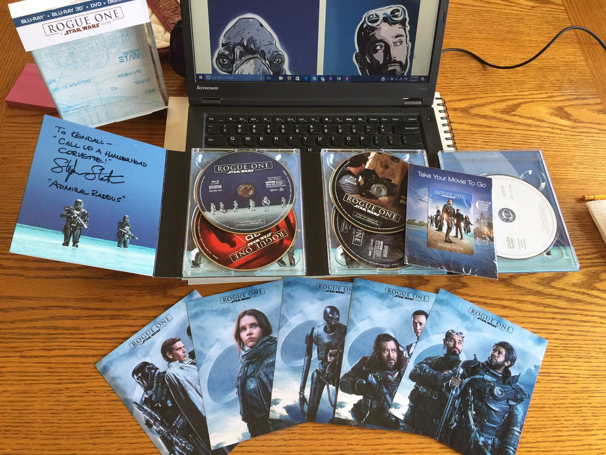 Just 29 more followers for @StarlightUS &amp; a winner of a signed #StarWars #RogueOne Blu-ray will be picked tonight! Just RT &amp; follow them! :)<br>http://pic.twitter.com/gpHUqy0fAV