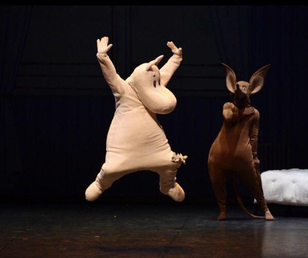 #ムーミンバレエ  本日の公演は19時から。当日券は18時より販売いたします! 写真は初日の舞台より photo: Hidemi Seto