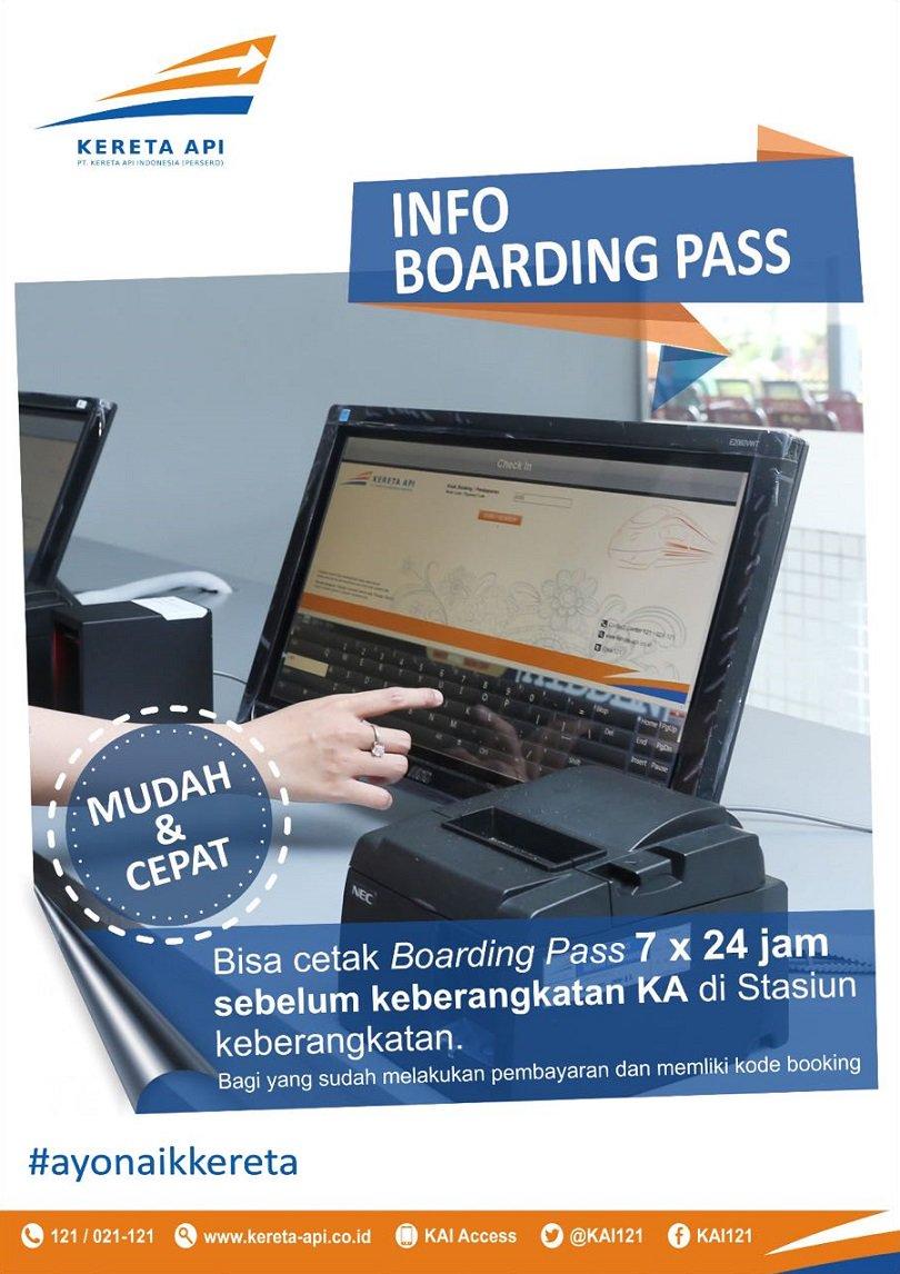 Kereta Api Indonesia On Twitter Sekarang Cetak Boardingpass Via