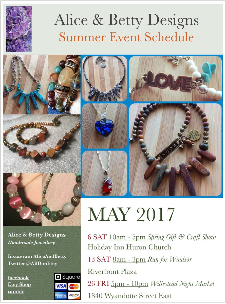 Want to know where to find us #Windsor ? Check out our May schedule! #events #canada #localartist #crafts #art #mothersday<br>http://pic.twitter.com/KT3E1TNCWf