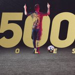 RT @FCBarcelona_es: 👑 #Messi500 👑 👉 https://t.co/E...