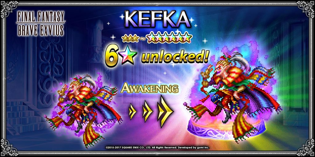 Final Fantasy Exvius On Twitter Kefka The Psycho Clown Is Now A