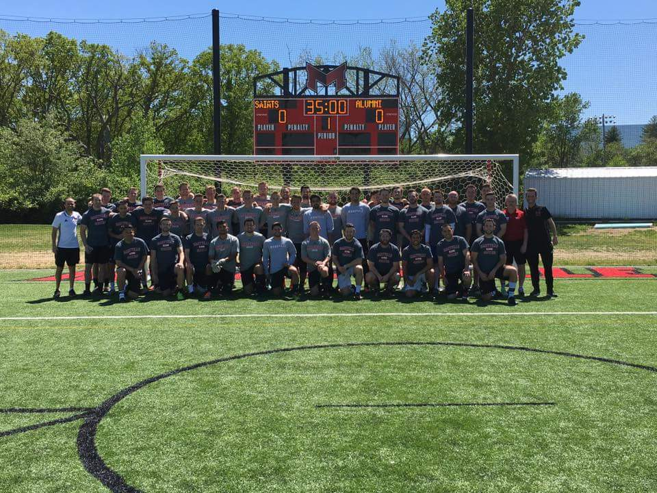 Thanks @MaryvilleSoccer for a great #Alumni game today! Great to be back on the pitch with the boys #MU #SaintsSoccer<br>http://pic.twitter.com/NlFqUW3Aqt