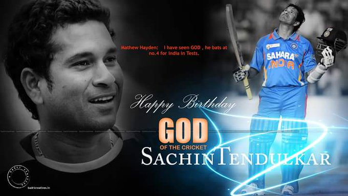 Happy  birthday  to  you  Sachin  Tendulkar