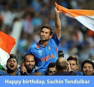 Happy birthday to master blaster Sachin Tendulkar