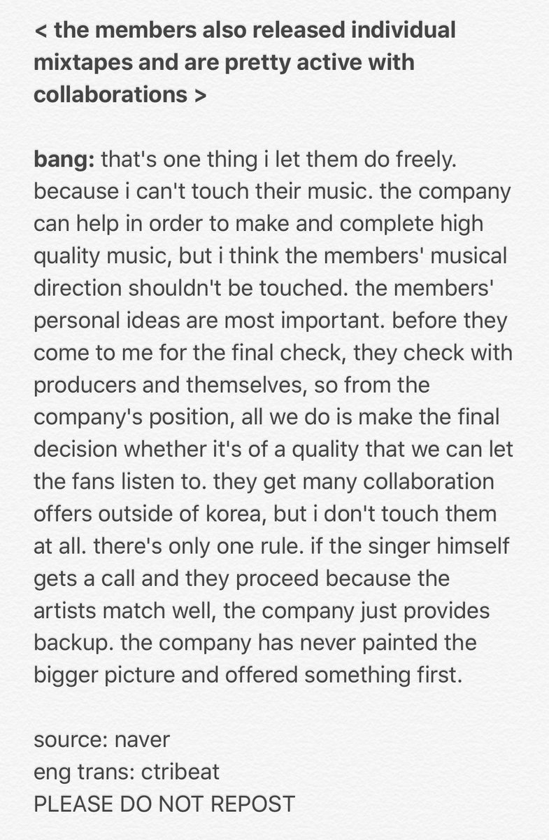 BANG PD. Other ceo\'s and companies could learn a little sumn sumn