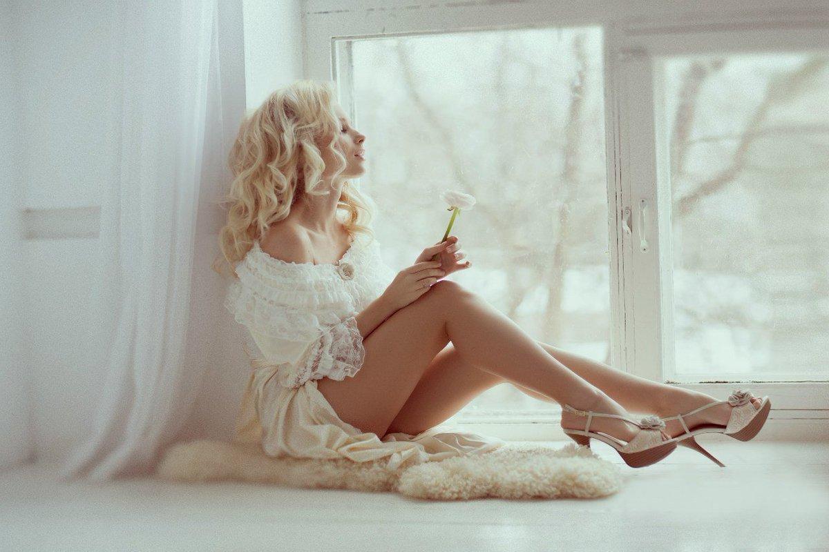 Доброе утро картинки женщине блондинке