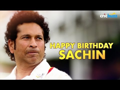 Happy Birthday, Sachin Tendulkar  Read More: