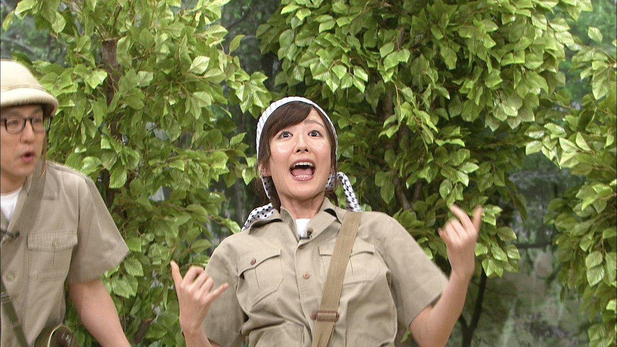 探検隊の格好をした所さんの番組に出演している滝菜月