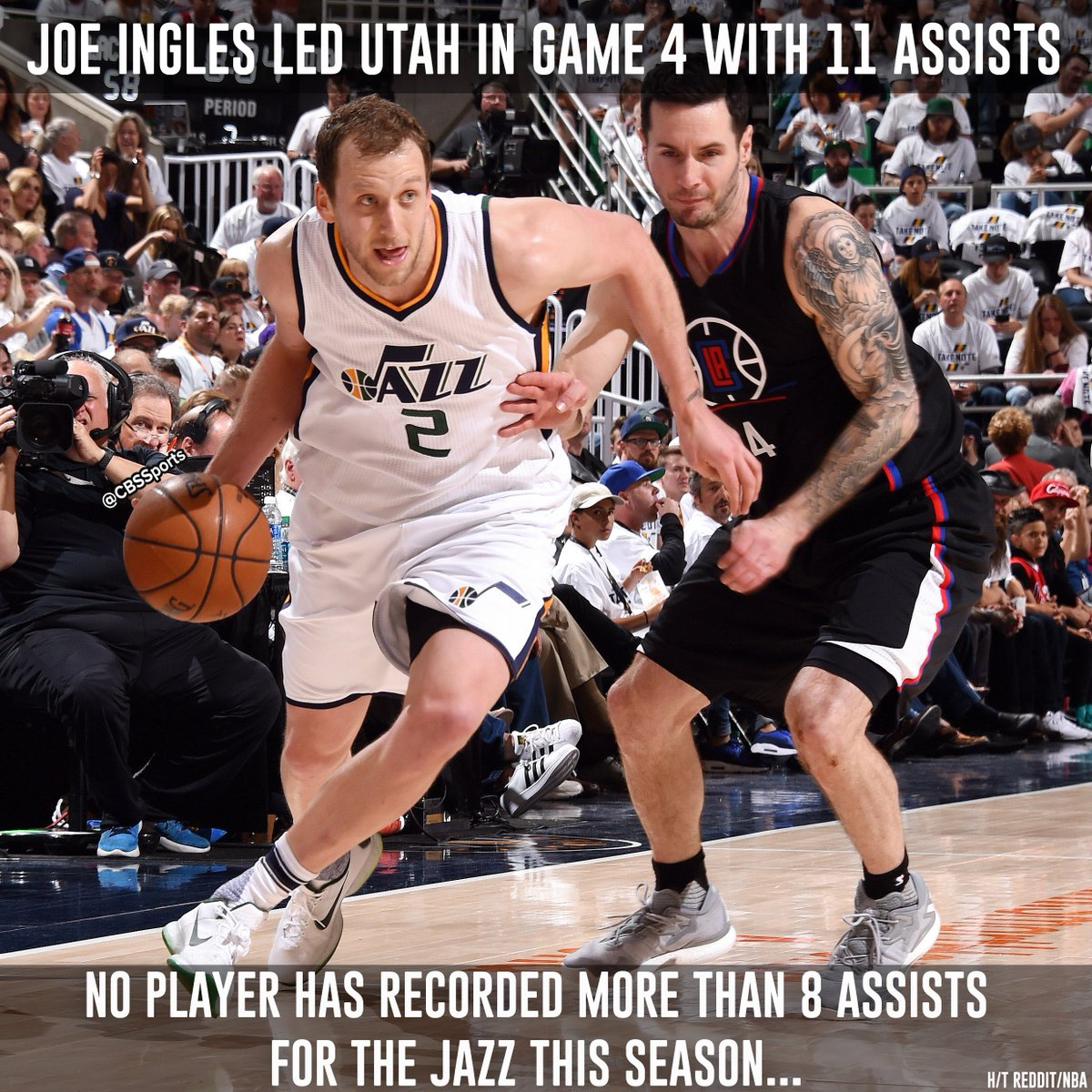 Joe Ingles knows that sharing is caring. https://t.co/K4fGmZqFd8