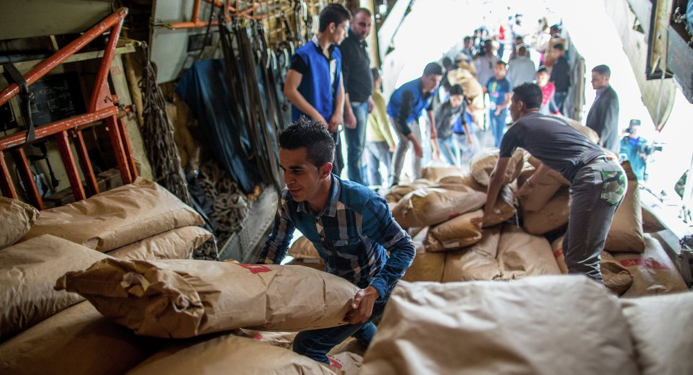 Over the past 24 Hours,#Russia delivered 3,6 Tons of #Humanitarian aid to 3000 #Syrian #Civilians in #Aleppo,#Damascus and #Latakia,#Syria. <br>http://pic.twitter.com/1EzxtqKoUJ