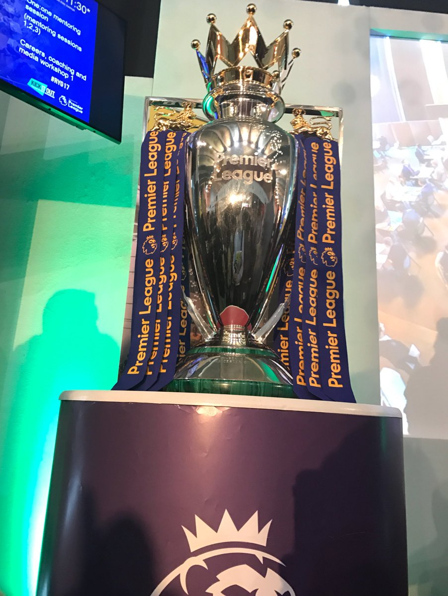 The @premierleague trophy is at Arsenal ....