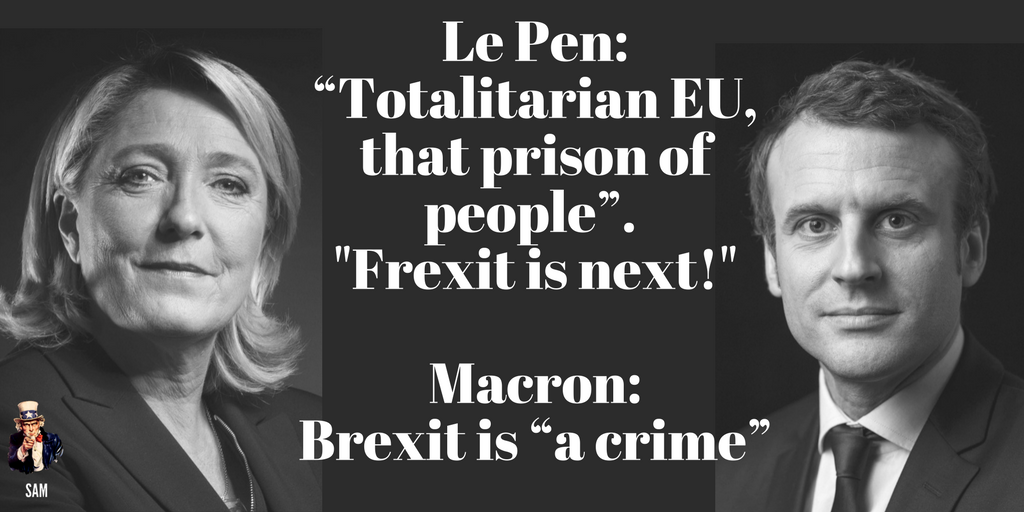 UK MSM including #BBC, #sky &amp; most papers hail #Macron and assume/hope he defeats #LePen.  Don&#39;t care much for British interest, do they?<br>http://pic.twitter.com/0NYGxzrth9