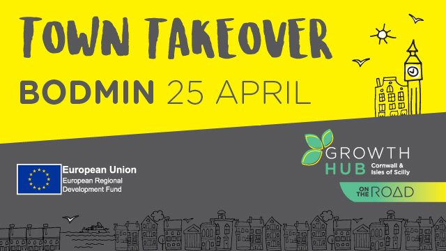 Looking forward to meeting Bodmin businesses tomorrow at our #TownTakeover! Sign up here for networking &amp; workshops  https:// goo.gl/pT4y0b  &nbsp;  <br>http://pic.twitter.com/cu5LHZETJc