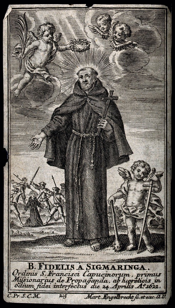 "John McCafferty on Twitter: ""24 Apr 1622: St. Fidelis of Sigmaringen  #Capuchin martyr in #Switzerland. 1st to be killed in service of Propaganda  Fide #otd… ..."