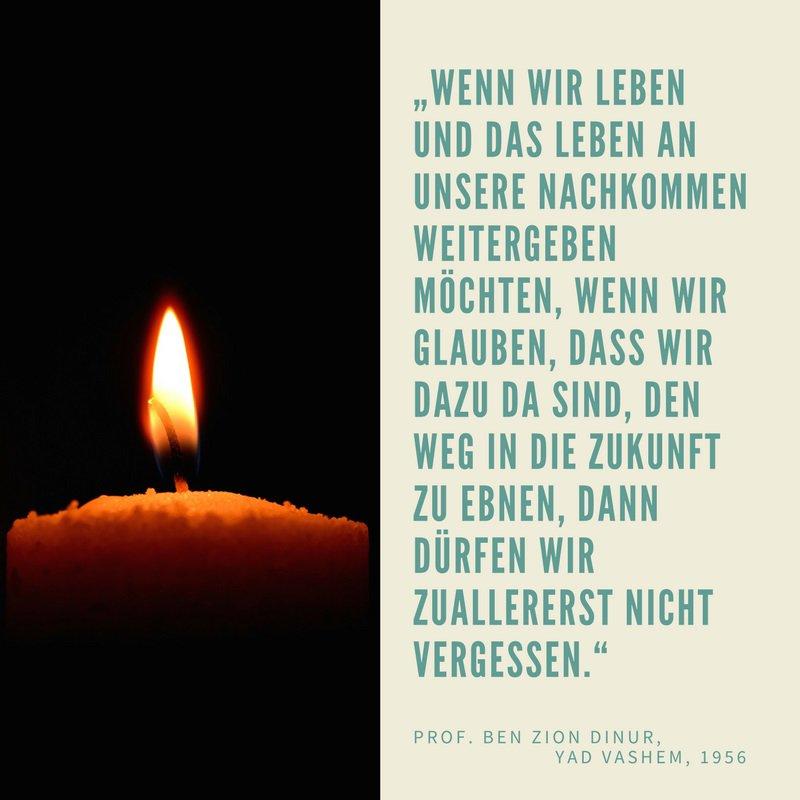 Heute, am #YomHashoah, gedenken wir der 6 Millionen im Holocaust Ermor...