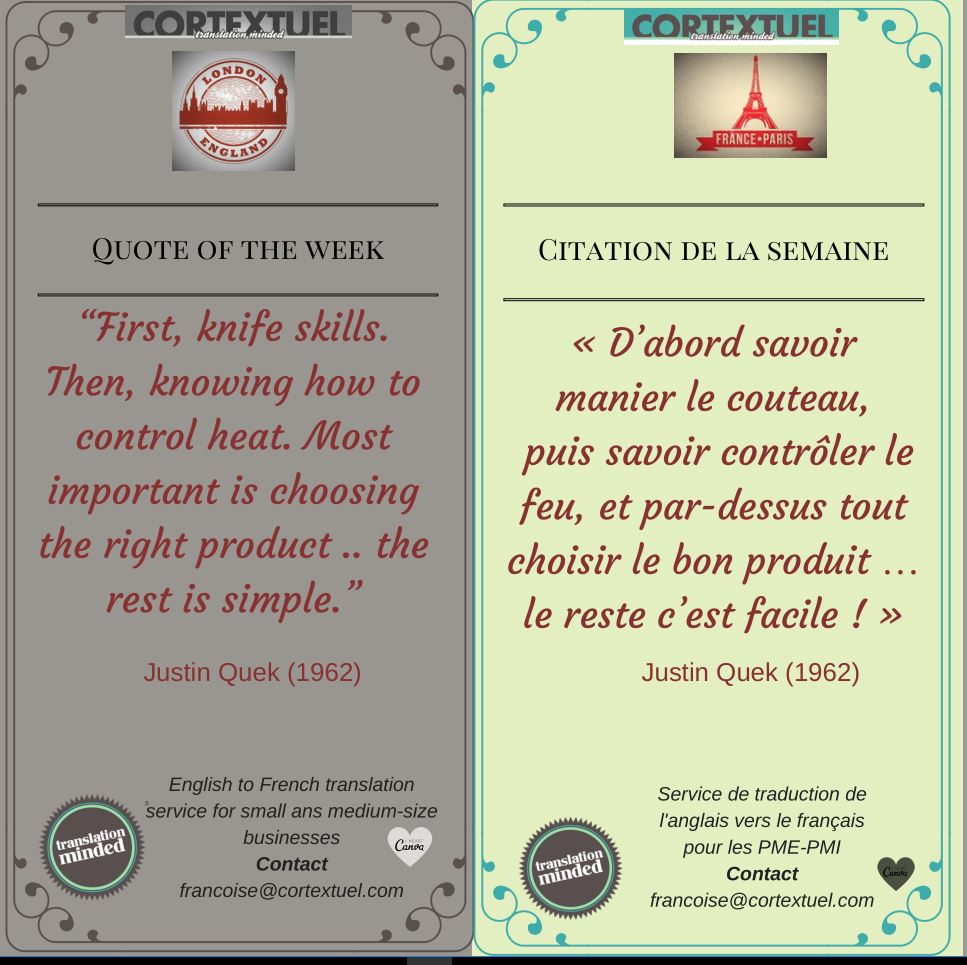 #Quote of the week #Citation de la semaine  by #CORTEXTUEL #Cooking and #Gastronomy  http:// ow.ly/FHrQ30adXFX  &nbsp;  <br>http://pic.twitter.com/PILEkj61io