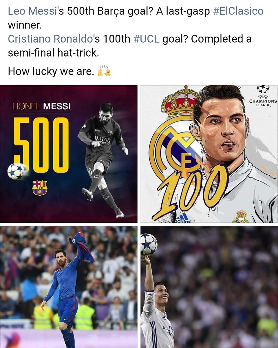 Last week: Cristiano Ronaldo  This week: Lionel Messi  #ElClasico  #RealBarca #RealMadrid #Barcelona <br>http://pic.twitter.com/Db2ULSzJ1F