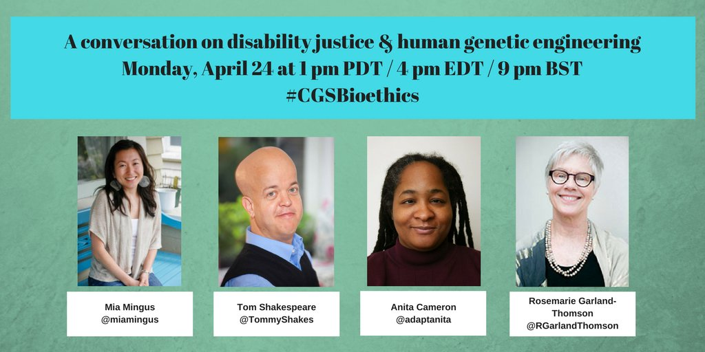 Thumbnail for #CGSbioethics: disability justice & human genetic engineering #bioethics