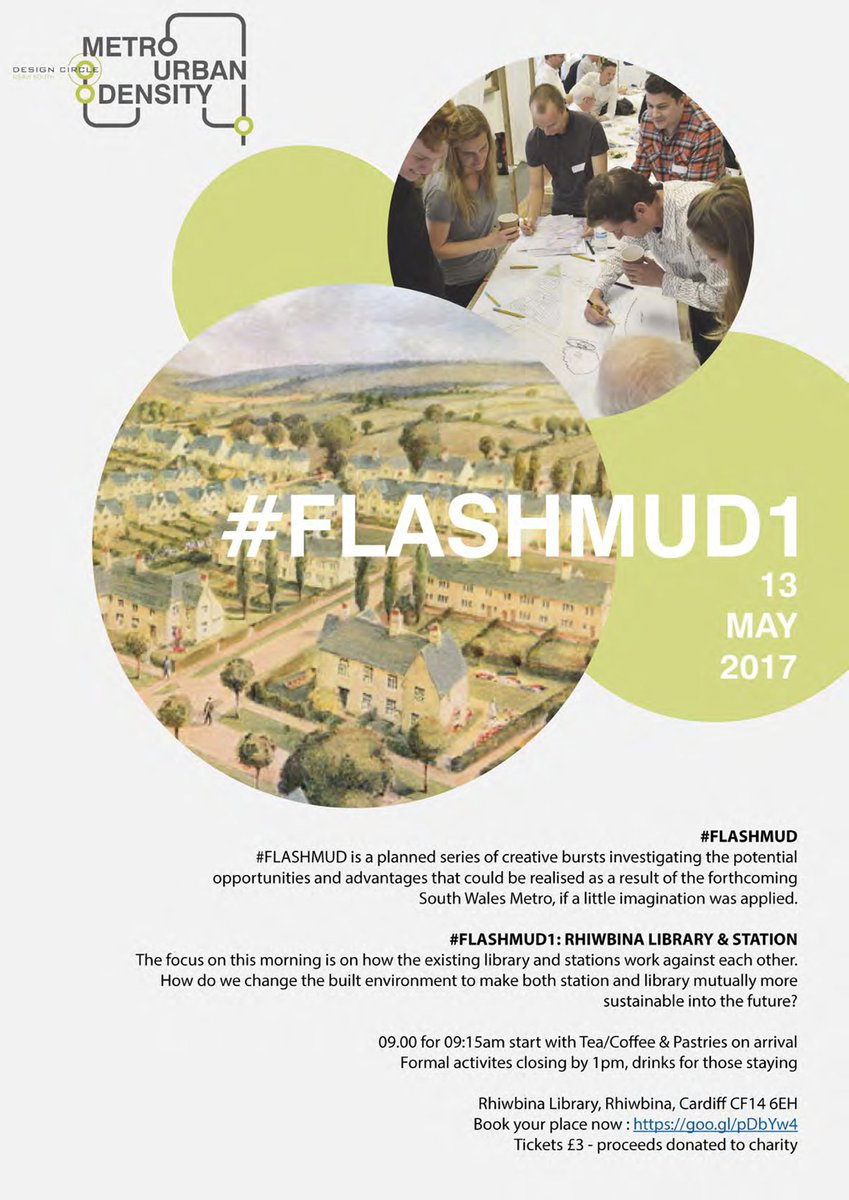 #FlashMUD1 open! Morning #Design #Workshop for library+station at #Rhiwbina on #DesignCircleMUD. Limited spaces -  https:// goo.gl/pDbYw4  &nbsp;  .<br>http://pic.twitter.com/3UjjPMayKW
