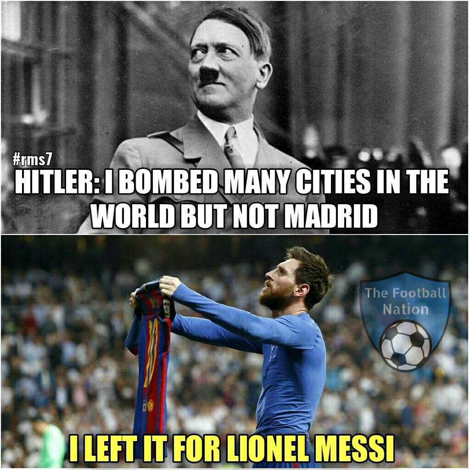 Even Hitler knows that  #ElClasico #Messi #RealMadrid #barcelona #Madrid<br>http://pic.twitter.com/FaqvBfMjAE
