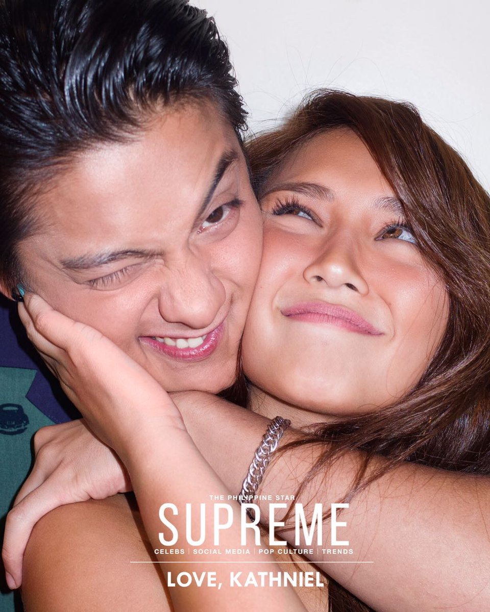 Supreme laid off the aggressive 'are-you-in-a-relationship' questions and let Kathniel's presence speak for itself. shar.es/1FHhY8