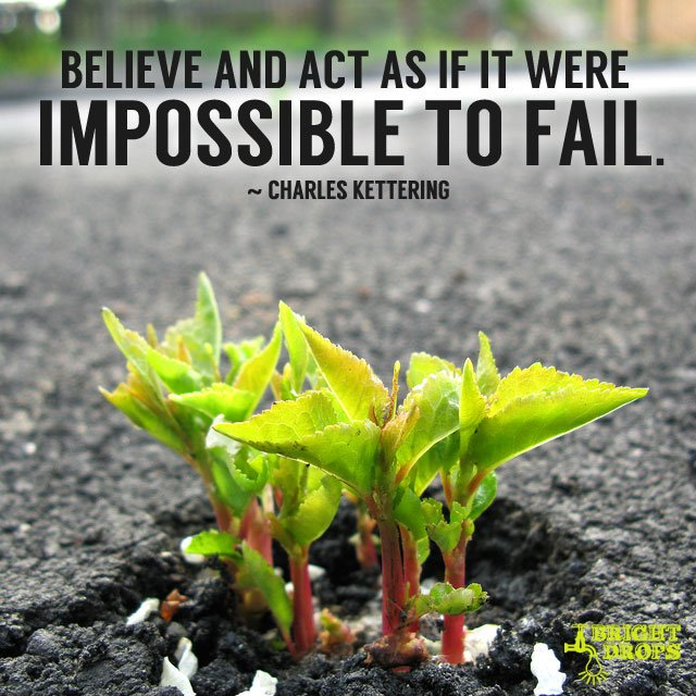 Believe and act as if it were impossible to fail. #quote #mondaymotiva...
