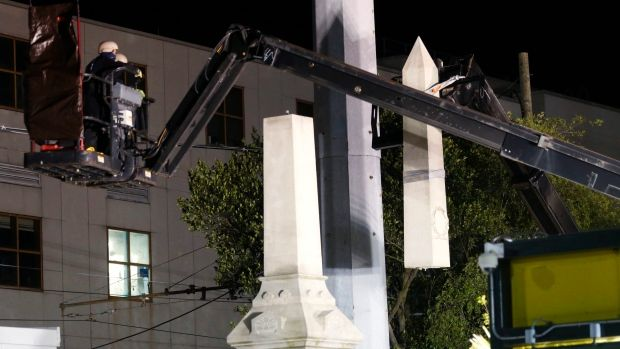 Removal of Confederate statues in New Orleans begins despite death thr...