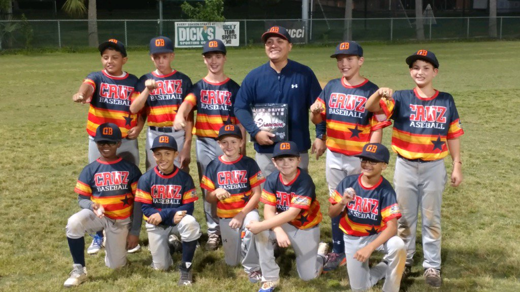 Congrats to the boys of Cruz Baseball 11u!! #Champs Well deserved boys. And congrats to 14U for 2nd place finish! <br>http://pic.twitter.com/9lFPr2Bqas