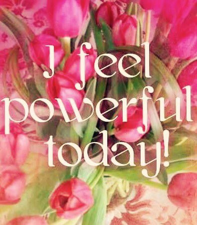I feel #Powerful today!  #JoyTrain #SuccessTRAIN #TuesdayMotivation #Joy #Success #Empower <br>http://pic.twitter.com/5US1oc23kl RT @shypixie76