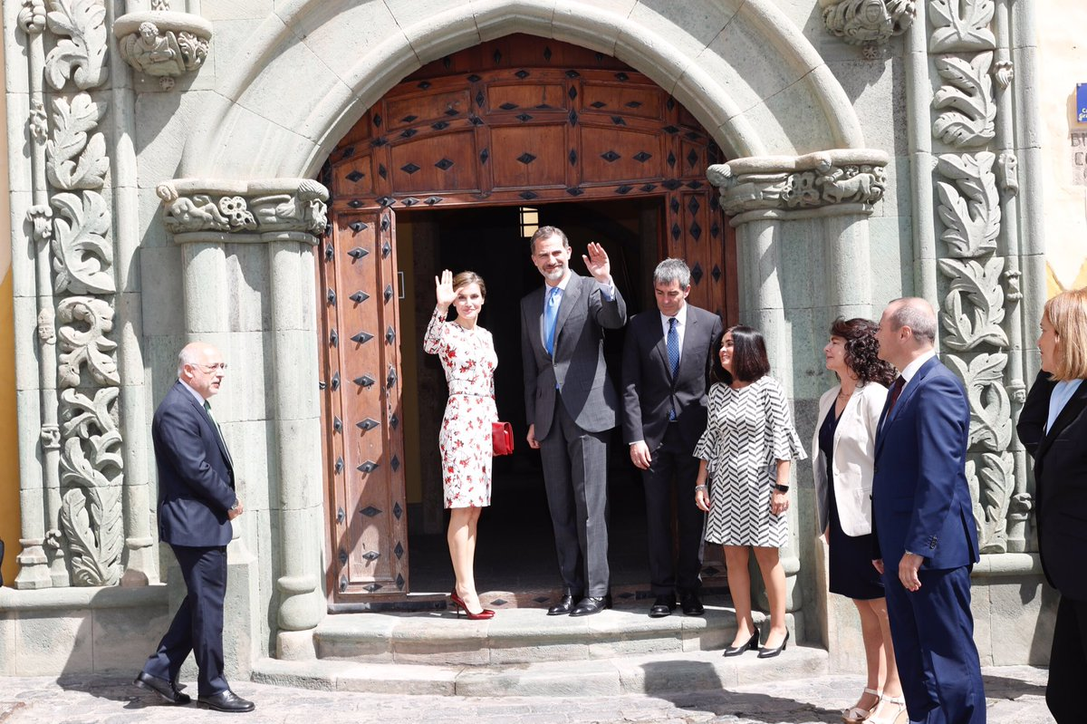 Визит королевской четы Испании на Канарские острова