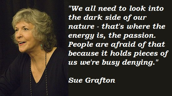 Happy birthday to Sue Grafton!