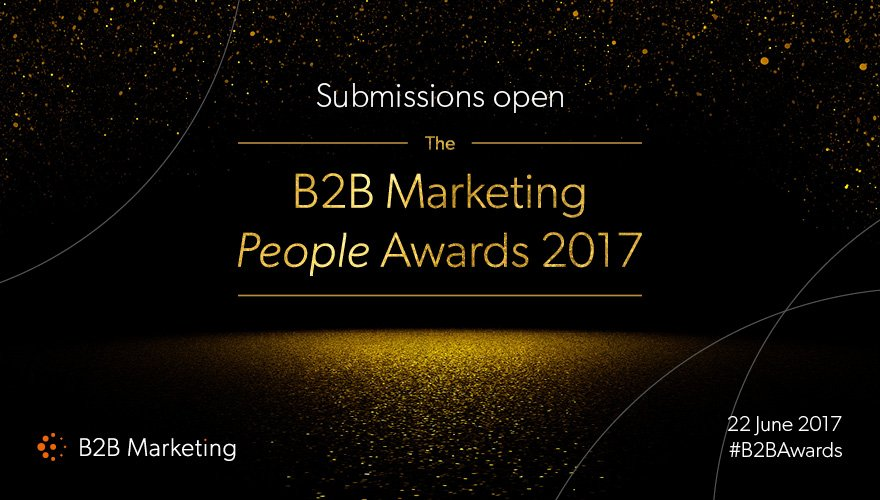 Submissions are still open for the #B2BAwards People Awards https://t.co/tL0gMqbN79 Get yours in before May 2 https://t.co/kmTGDCdJNV