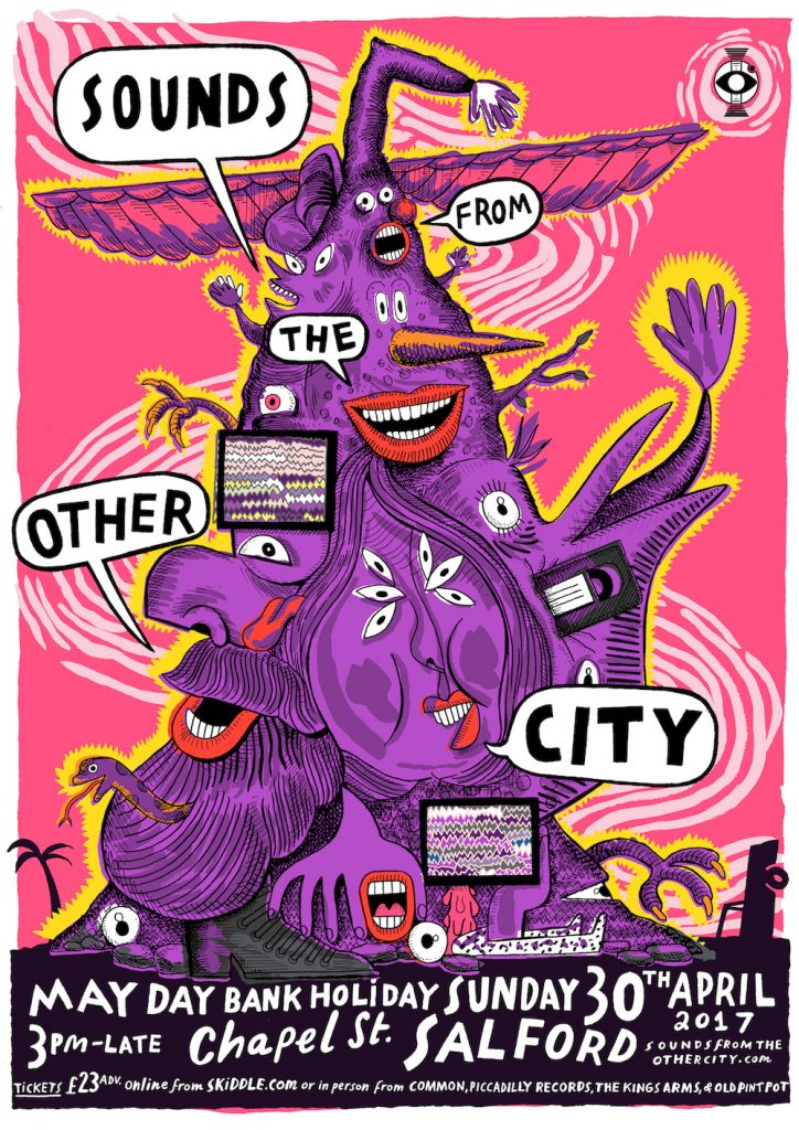Can&#39;t wait for Sounds from the Other City this May Day Bank Holiday! Check out the crazy line-up -  http:// ow.ly/rfWk30b72nH  &nbsp;   #Salford #music <br>http://pic.twitter.com/HIp3AmIUFN