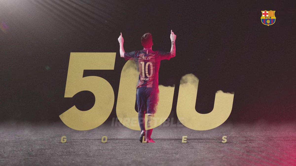 👑 #Messi500 G⚽LES! 👏 Las felicitaciones de los amigos de #Messi https:...