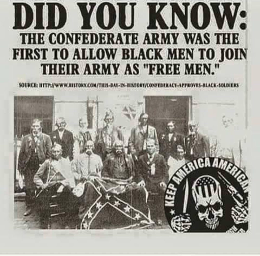 Hey #Democrats what about celebrating the first Army to allow Black Men to join. You can&#39;t change history. You can only cover it up. <br>http://pic.twitter.com/rtrMs2sjcF