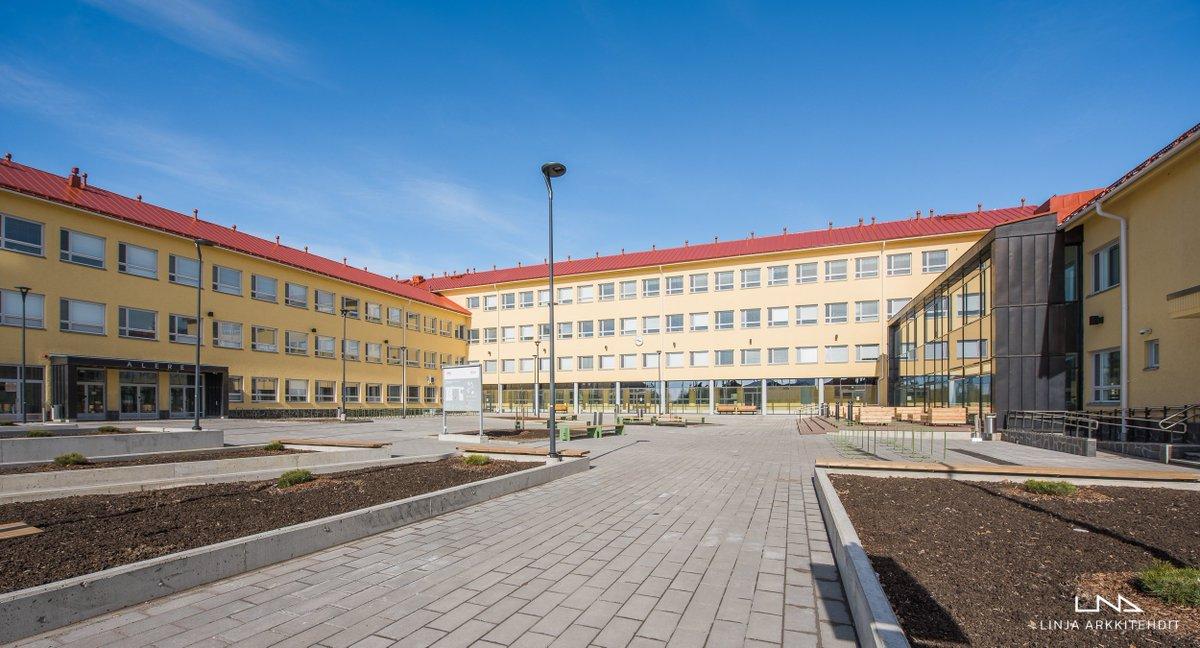 13.500 m² suuruinen uudenlainen oppimisympäristö palvelee 1600:a opiskelijaa. #Alere #Novia #VAMK #architecture #LINJAarkkitehdit #vaasa