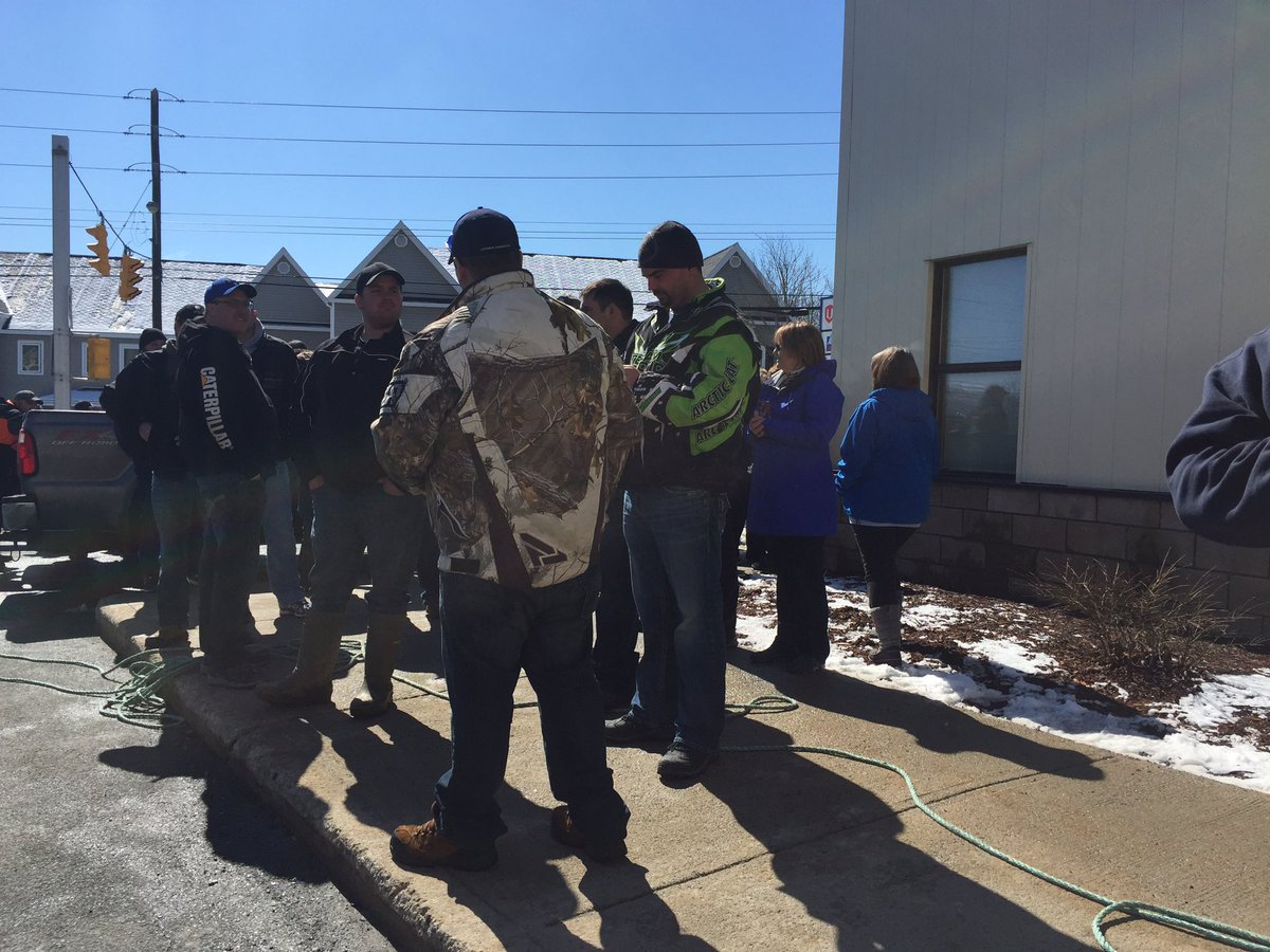 Protesters say they want to hear from FFAW within ten minutes. The @RN...