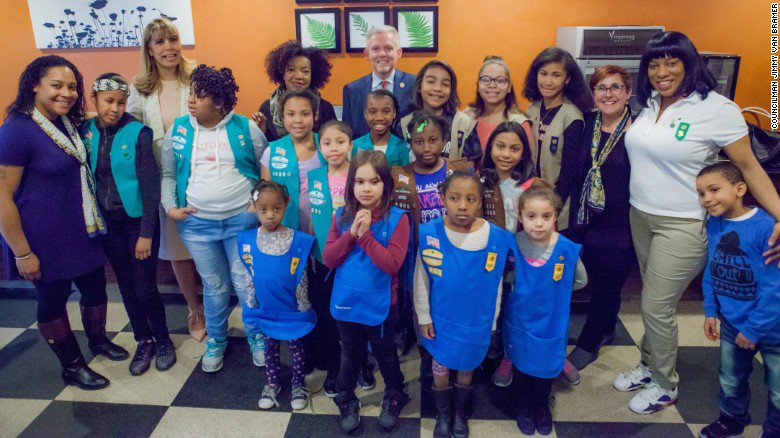 Girl Scout Troop 6000 is the first in New York City made up solely of homeless girls