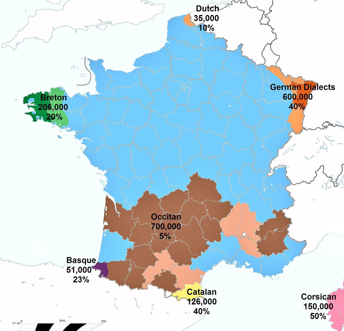 Basque France Map.Uk Language Maps On Twitter Languages Of France