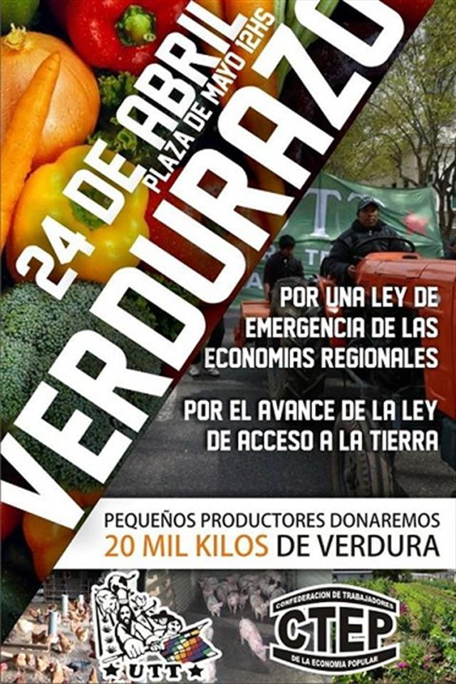 #Verdurazo   Hoy en Plaza de Mayo se realiza el reclamo por la Ley de...
